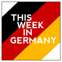 Logo du podcast 43 - Merkel meets Putin, textile chain clean-up, Schwetzingen Palace and Gunther