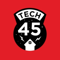 Logo du podcast Tech45 wordt 10