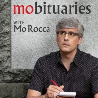 Logo of the podcast Mobituaries with Mo Rocca Season 1 Trailer