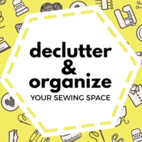Logo of the podcast Declutter and Organize Your Sewing Space