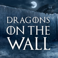 "Logo of the podcast Game of Thrones: ""Hardhome"" - Dragons on the Wall"