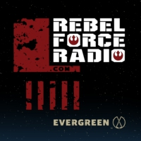 Logo of the podcast THE MANDALORIAN's Emily Swallow and RFR Live