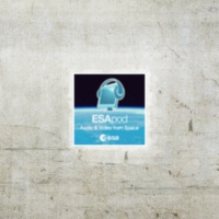 Logo of the podcast ESA annual press briefing. Listen to the conference with ESA Director General