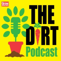 Logo of the podcast The Dirt: the gardening podcast from Grow Your Own magazine