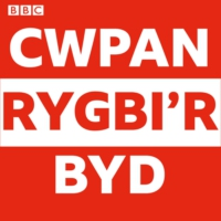 Logo of the podcast Allan o'r blocks yn barod i'r Boks!