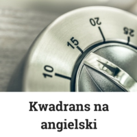 Logo of the podcast Kwadrans na angielski