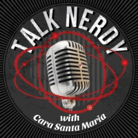 Logo of the podcast Talk Nerdy with Cara Santa Maria