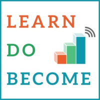 Logo of the podcast LearnDoBecome Radio