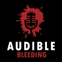 Logo of the podcast Audible Bleeding Listener Survey and T-shirt Raffle