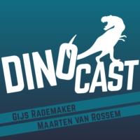 Logo of the podcast DinoCast - de dinosauriër podcast met Maarten van Rossem en Gijs Rademaker