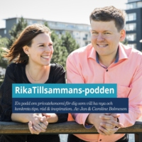 Logo of the podcast RikaTillsammans | En podd om privatekonomi
