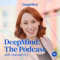 Logo of the podcast DeepMind: The Podcast