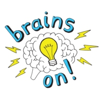 Logo du podcast Brains On! Science podcast for kids