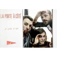 Logo of the podcast La porte à côté : La Louve,  supermarché coopératif.