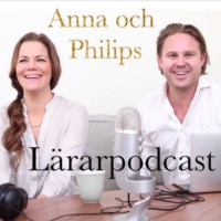Logo du podcast Anna och Philips lärarpodcast