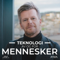 Logo du podcast Teknologi. Av og for mennesker