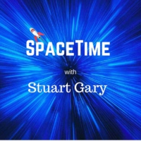 Logo of the podcast Milestone Reached - Space Nuts 227 with Professor Fred Watson & Andrew Dunkley