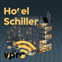 Logo du podcast aflevering 2 - Hotel Schiller - Corry! Corry Italiaander!
