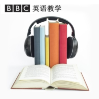 "Logo of the podcast ""地道英语"":Mic drop 扔话筒"