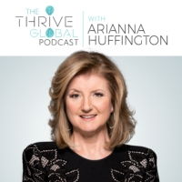 Logo of the podcast The Thrive Global Podcast with Arianna Huffington