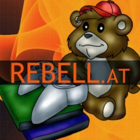 Logo of the podcast Rebell.at Gaming Podcast