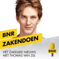 Logo of the podcast Krein Bons (VanHaren) over overname schoenenwinkels in coronatijd