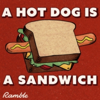 Logo of the podcast A Hot Dog Is a Sandwich