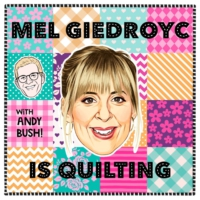 Logo of the podcast Mel Giedroyc is Quilting