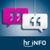 Logo du podcast hr-iNFO Das Interview