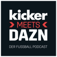 Logo du podcast kicker meets DAZN - Der Fußball Podcast