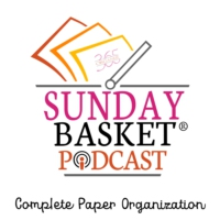 Logo of the podcast Sunday Basket Paper Organization Podcast