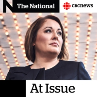 Logo of the podcast Andrew Scheer remains leader, Elizabeth May does not