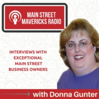 Logo of the podcast Main Street Mavericks Radio with Donna Gunter