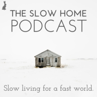 Logo of the podcast The Slow Home Podcast with Brooke McAlary