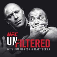 Logo of the podcast UFC Unfiltered with Jim Norton and Matt Serra