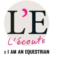 Logo of the podcast L'Ecoute, le podcast par L'Eperon x I am an equestrian
