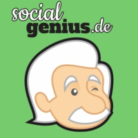 Logo du podcast Social Media Podcast von socialgenius.de: Facebook Twitter Google Instagram und Content Marketing