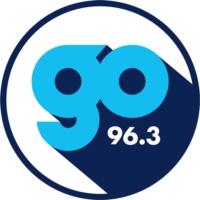 Logo of radio station KQGO-FM Go 96-3