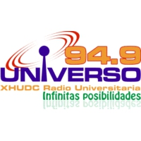 Logo of radio station XHUDC Universo 94.9
