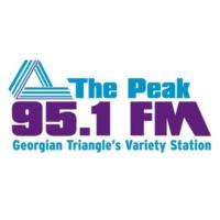 Logo of radio station CKCB-FM 95.1 The Peak FM