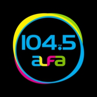 Logo of radio station XHMF Alfa 104.5 FM