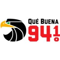 Logo de la radio KLNO Qué Buena 94.1