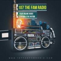 Logo de la radio 107 THE FAM