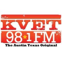 Logo de la radio 98.1 KVET-FM