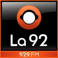 Logo de la radio La 92 Bogotá