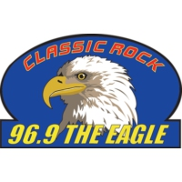 Logo of radio station KKGL 96.9 The Eagle