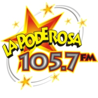 Logo of radio station XHMI La Poderosa 105.7 FM