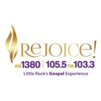 Logo of radio station KZTS Rejoice 105.5