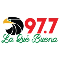 Logo of radio station KEQB-FM La Que Buena 97.7