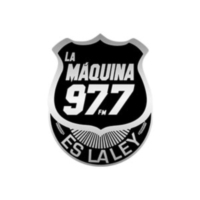 Logo of radio station XHOT La Máquina 97.7 FM
